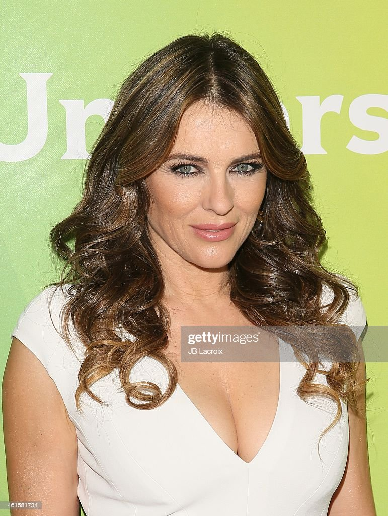 Elizabeth Hurley attends the NBCUniversal 2015 Press Tour at the Langham Huntington Hotel on January 15, 2015 in Pasadena, California.