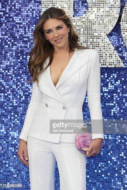 Elizabeth Hurley attends the Rocketman UK premiere at Odeon Luxe Leicester Square on May 20 2019 in London England
