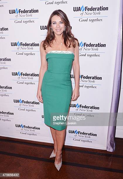 Elizabeth Hurley attends The UJAFederation of New York's Entertainment Division Signature Gala at 583 Park Avenue on June 2 2015 in New York City