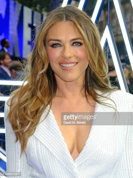 Elizabeth Hurley attends the UK Premiere of Rocketman at Odeon Luxe Leicester Square on May 20 2019 in London England