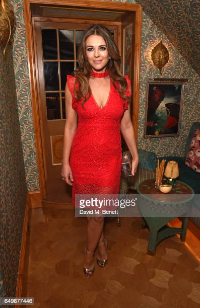 Elizabeth Hurley attends the World Premiere after party for 'The Time Of Their Lives' at 5 Hertford Street on March 8 2017 in London England