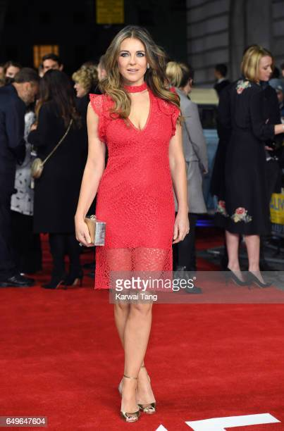 Elizabeth Hurley attends the World Premiere of 'The Time Of Their Lives' at the Curzon Mayfair on March 8, 2017 in London, United Kingdom.