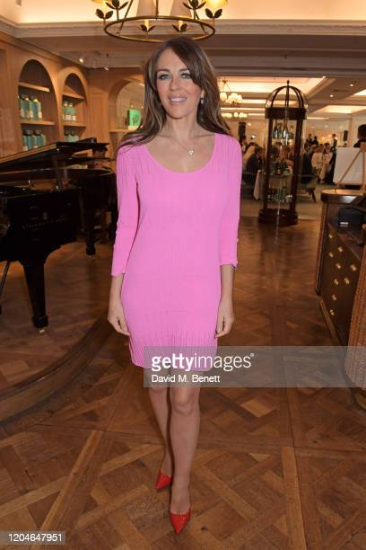 Elizabeth Hurley attends Turn The Tables 2020 hosted by Tania Bryer and James Landale in aid of Cancer Research UK at Fortnum & Mason on March 2,...