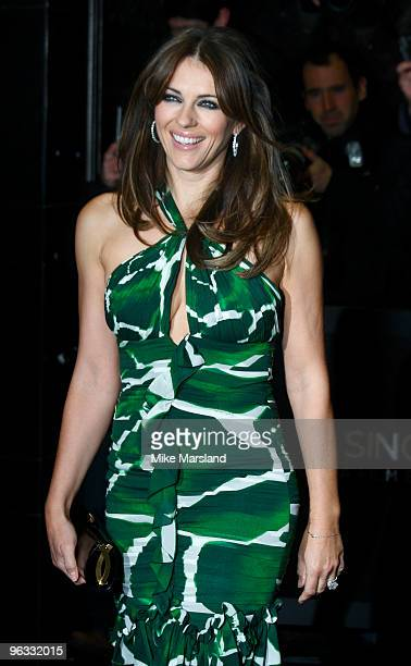 Elizabeth Hurley attends UK Film Premiere of 'A Single Man' at The Curzon Mayfair on February 1, 2010 in London, England.