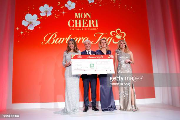 Elizabeth Hurley Carlo Vassallo Maria Furtwaengler and Frauke Ludowig attend the Mon Cheri Barbara Tag 2017 at Postpalast on November 30 2017 in...