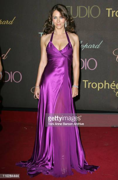 Elizabeth Hurley during 2006 Cannes Film Festival Chopard Trophy Awards Ceremony Photocall at Carlton Hotel in Cannes France