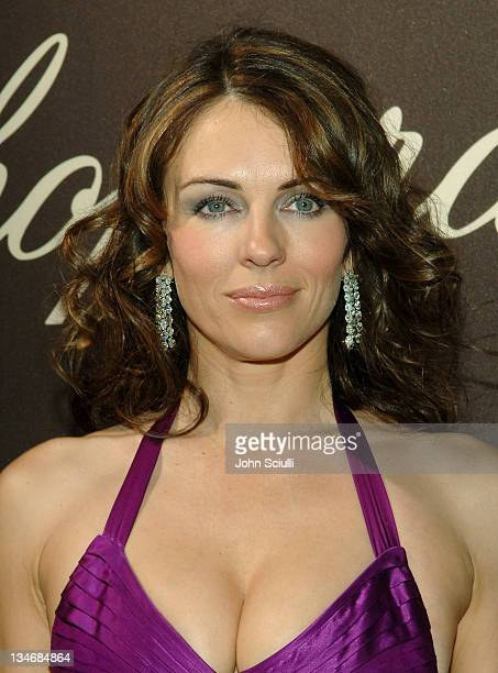 Elizabeth Hurley during 2006 Cannes Film Festival Chopard Trophy Awards Ceremony Arrivals at Carlton Hotel in Cannes France