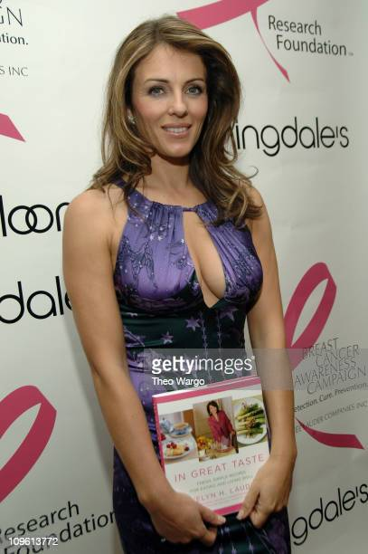 Elizabeth Hurley during Elizabeth Hurley and Evelyn H Lauder Sign Copies of Mrs Lauders Book 'In Good Taste' to Benefit the 14th Annual Breast Cancer...