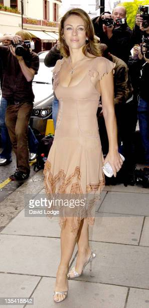 Elizabeth Hurley during Elizabeth Hurley at Harrods to Sign Copies of the Estee Lauder Pink Ribbon Diary 2007 at Harrods in London Great Britain