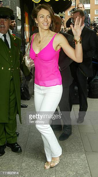Elizabeth Hurley during Elizabeth Hurley 'Beach' Press Launch at Harrods in London Great Britain