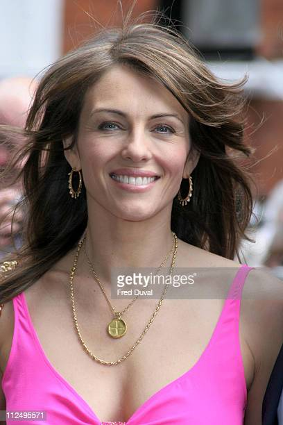 Elizabeth Hurley during Elizabeth Hurley Beach Press Launch at Harrods in London Great Britain