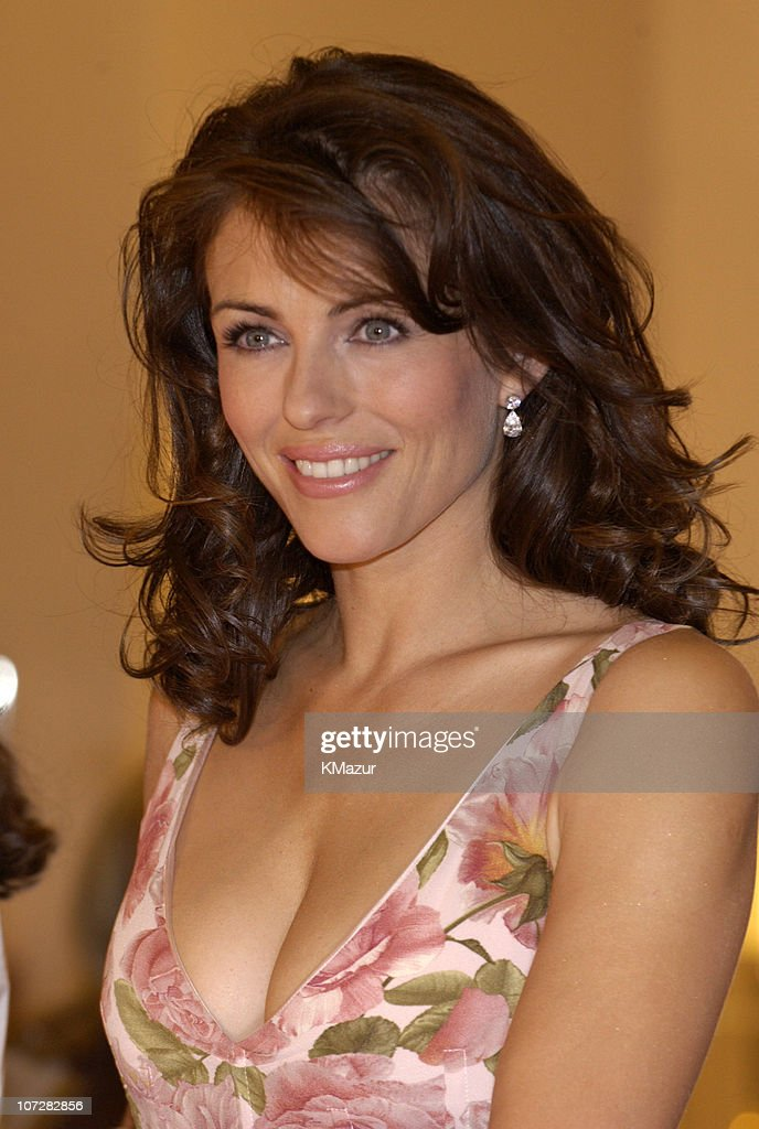 Elizabeth Hurley Launches Estee Lauder's Elizabeth Pink Lipstick at Saks Fifth
