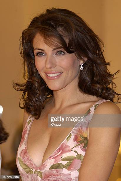 Elizabeth Hurley during Elizabeth Hurley Launches Estee Lauder's Elizabeth Pink Lipstick at Saks Fifth Avenue to Benefit Breast Cancer Awareness...