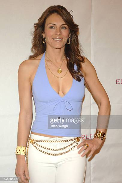 Elizabeth Hurley during Elizabeth Hurley Launches Her New Swimwear Line Beach at Saks Fith Avenue in New York City New York United States