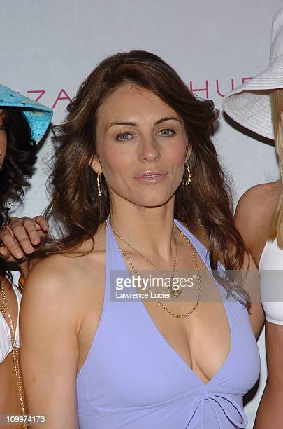 Elizabeth Hurley during Elizabeth Hurley Launches Her New Swimwear Line Beach at Saks Fifth Avenue in New York City New York United States