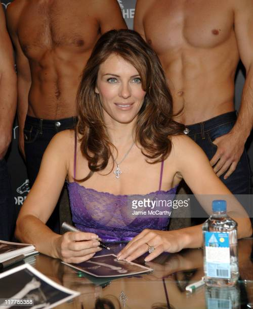 Elizabeth Hurley during Elizabeth Hurley Launches Jordache at Macy's Herald Square at Macy's Herald Square in New York City New York United States