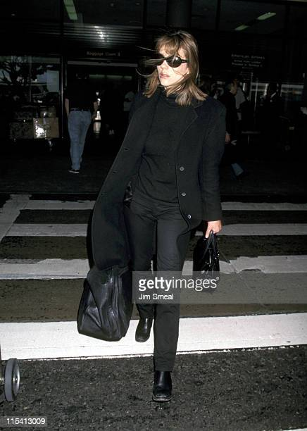 Elizabeth Hurley during Elizabeth Hurley Sighing at Los Angeles International Airport - March 30, 1998 at Los Angeles International Airport in Los...