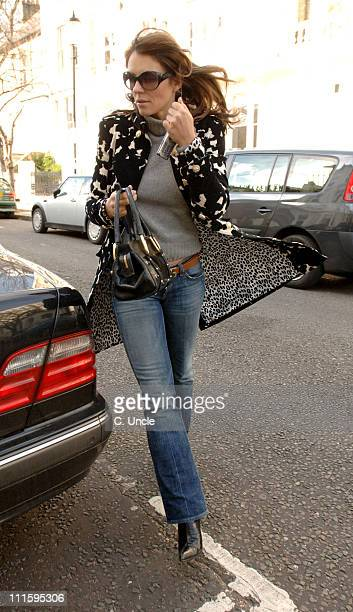Elizabeth Hurley during Elizabeth Hurley Sighting in London April 4 2006 in London Great Britain