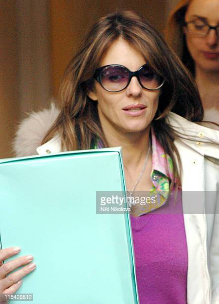Elizabeth Hurley during Elizabeth Hurley Sighting Outside Son Damian's Birthday Party in London April 5 2006 at West London in London Great Britain