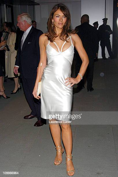 Elizabeth Hurley during Estee Lauder Celebrates Spring 2005 Season at Museum of Modern Art in New York City New York United States