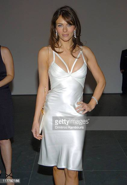 Elizabeth Hurley during Estee Lauder Celebrates Spring 2005 Season at The Museum of Modern Art in New York City New York United States