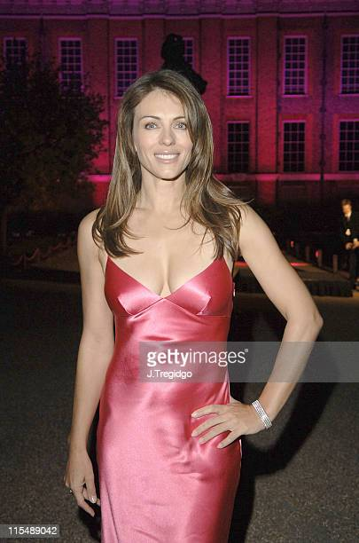 Elizabeth Hurley during Estee Lauder Photocall October 3 2005 at Kensington Palace in London Great Britain