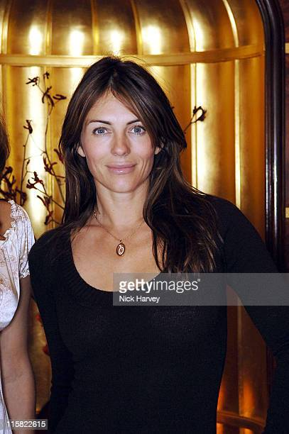 Elizabeth Hurley during Gail Elliott Presents Little Joe with Tea at The Ritz at The Ritz in London Great Britain