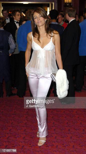 Elizabeth Hurley during 'Mary Poppins' Gala Evening Inside Arrivals at Prince Edward Theatre in London Great Britain