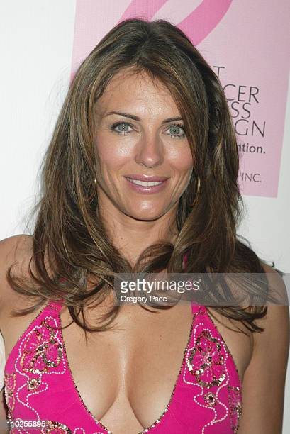 Elizabeth Hurley during October Breast Cancer Awareness Campaign Launch Arrivals and Inside the Party at Bryant Park Grill in New York City New York...