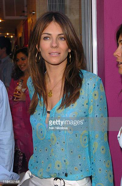 Elizabeth Hurley during Tashia Cocktail Party for Ceila Wise at Tashia Walton Street in London Great Britain