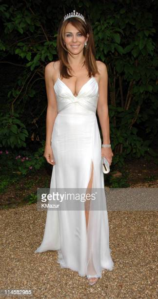 Elizabeth Hurley during The 8th Annual White Tie and Tiara Ball to Benefit the Elton John AIDS Foundation in Association with Chopard Arrivals in...