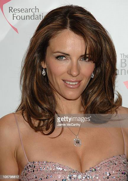 Elizabeth Hurley during The Breast Cancer Research Foundation Presents The Very Hot Pink Party at The Waldorf Astoria in New York City New York...