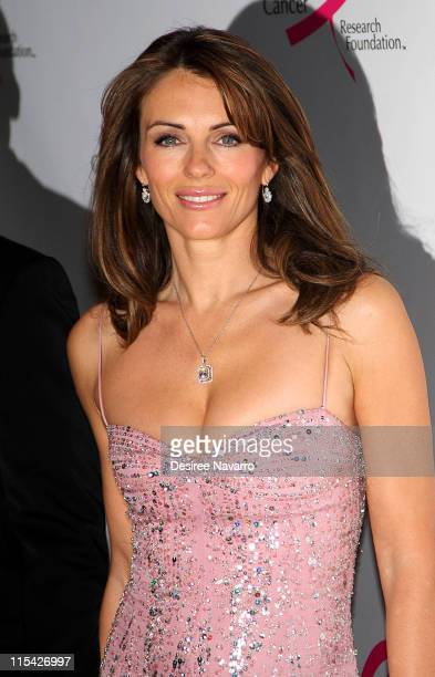Elizabeth Hurley during The Breast Cancer Research Foundation Presents 'The Very Hot Pink Party' April 10 2006 at Waldorf Astoria in New York City...