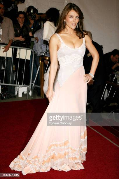 Elizabeth Hurley during The 'Costume Institute Gala' celebrating 'AngloMania Tradition and Transgression on British Fashion' at Metropolitan Museum...