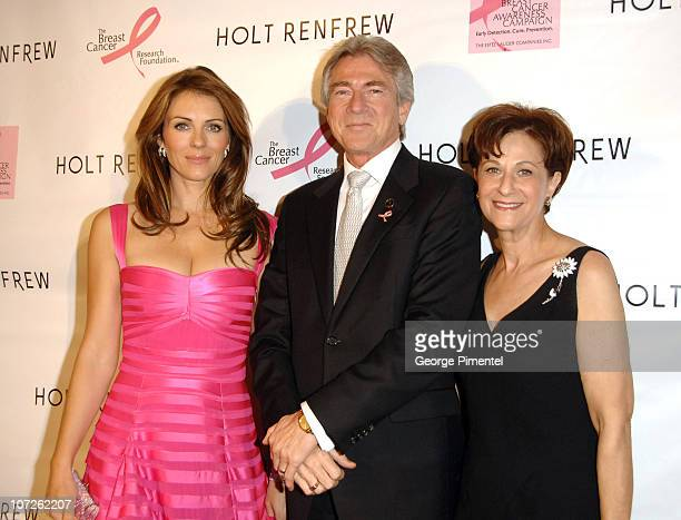 Elizabeth Hurley Gary Balaski and BCRF President Myra Biblowit visit Holt Renfrew Vancouver in support with Estee Lauder for the Breast Cancer...