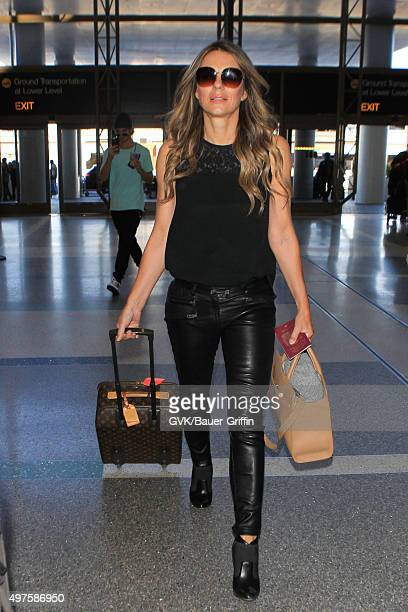 Elizabeth Hurley is seen at LAX on November 17 2015 in Los Angeles California