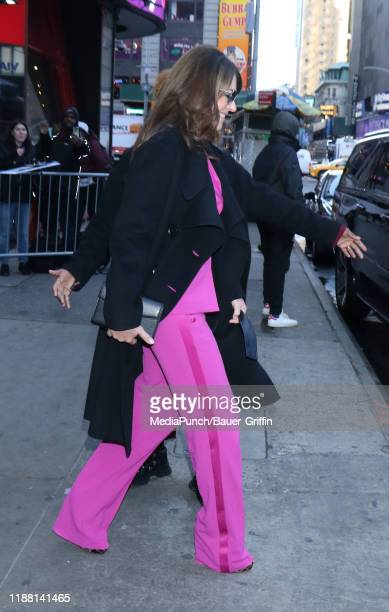 Elizabeth Hurley is seen on December 12, 2019 in New York City.