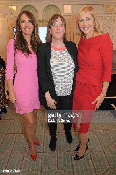 Elizabeth Hurley, Jess Phillips and Tania Bryer attend Turn The Tables 2020 hosted by Tania Bryer and James Landale in aid of Cancer Research UK at...