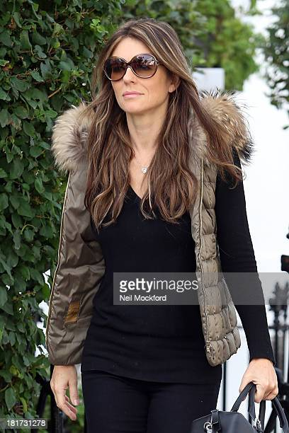 Elizabeth Hurley seen out and about on September 24 2013 in London England