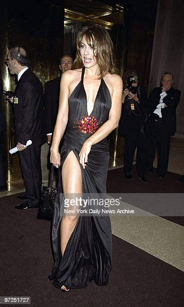 Elizabeth Hurley steps out at the Costume Institute Gala Rock Style an exhibit of rock 'n' roll fashions at the Metropolitan Museum of Art