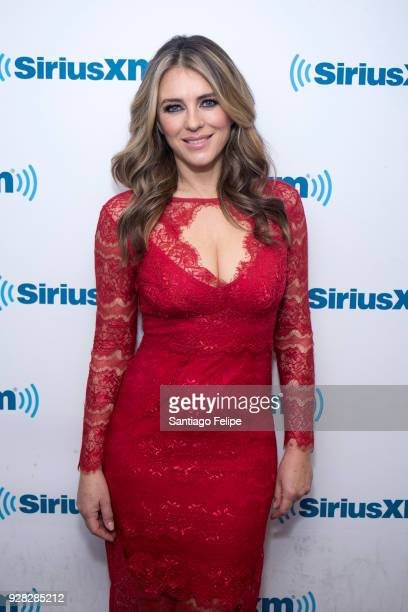 Elizabeth Hurley visits SiriusXM Studios on March 6, 2018 in New York City.