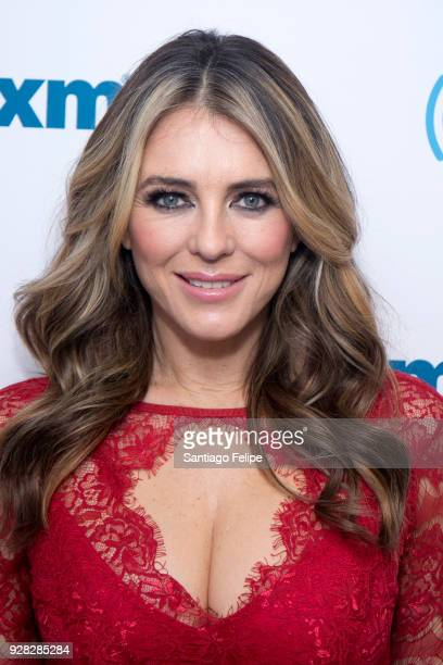 Elizabeth Hurley visits SiriusXM Studios on March 6 2018 in New York City