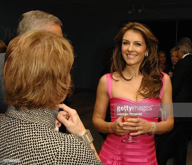 Elizabeth Hurley Visits the Art Gallery of Vancouver in support with Estee Lauder for the Breast Cancer Research Foundation on October 01 2007 in...