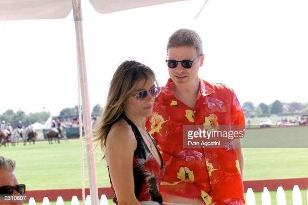 Elizabeth Hurley with boyfriend Steven Bing at opening day at the Mercedes-Benz Polo Challenge at the Bridgehampton Polo Club in Bridgehampton, New...
