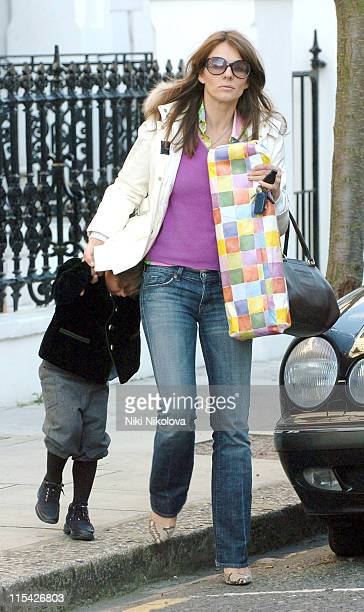 Elizabeth Hurley with her son Damian during Elizabeth Hurley Sighting Outside Son Damian's Birthday Party in London April 5 2006 at West London in...