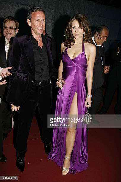 Elizabeth Hurley with Patrick Cox attend the Trophee Chopard ceremony which awards the best young actor and actress of the year at the Carlton Hotel...