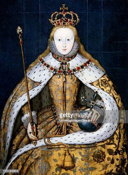 Elizabeth I in coronation robes Elizabeth I queen of England from 1558 Daughter of Henry VIII and Anne Boleyn she was the last Tudor