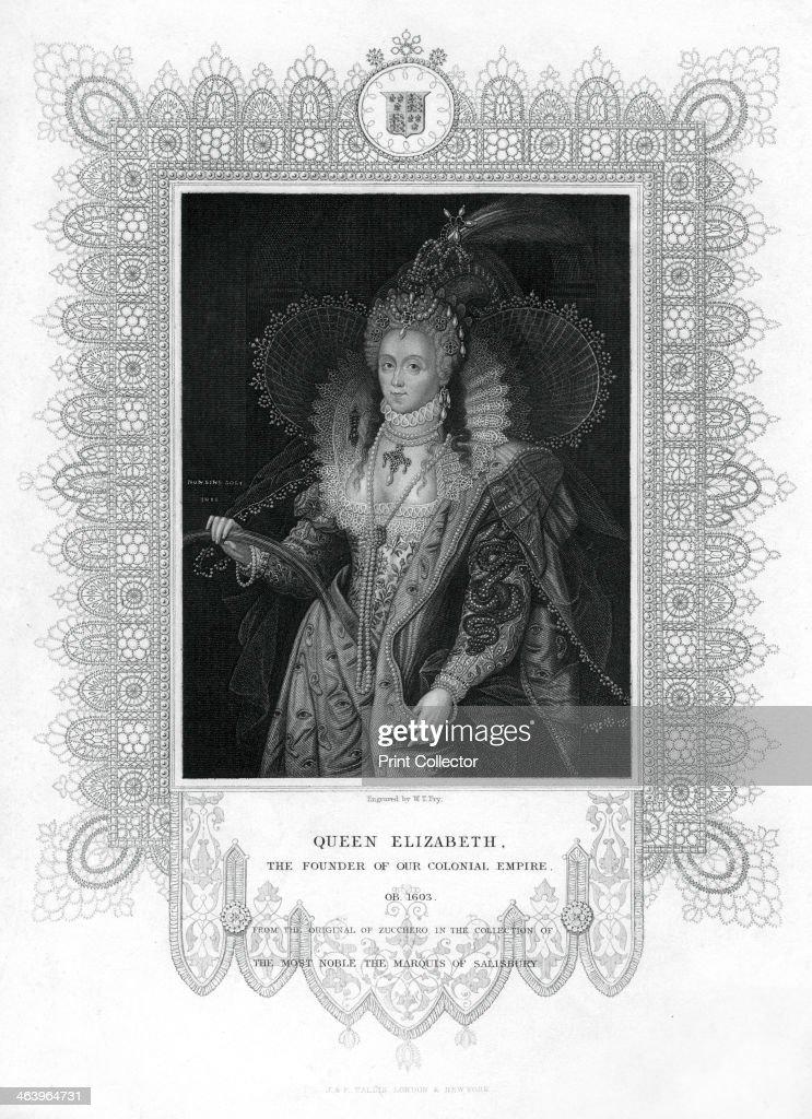 Elizabeth I of England, (19th century).Artist: William Thomas Fry : Fotografía de noticias