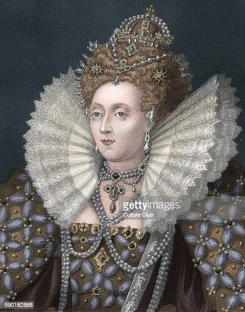 Elizabeth I, portrait. Queen of England from 1558 until her death. 7 September 1533 Ð 24 March 1603.