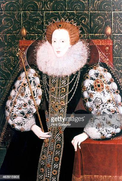 Elizabeth I Queen of England and Ireland 15581603 The last Tudor monarch Elizabeth I ruled from 1558 until 1603 She is depicted seated on the throne...